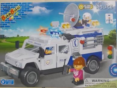 Building block - Ban Bao 8343 Police Hummer