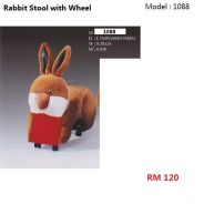 Rabbit Stool with Wheel