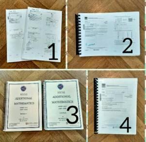 IGCSE past papers (bio, add maths, geo, physics)