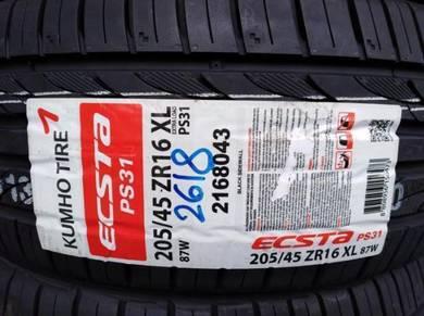 205/45/16 Kumho Ecsta PS31 Tyre Tayar