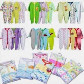 SC9 Three (3) pieces baby infant sleepingsuit baju
