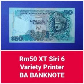 JanJun RM50 6th BA Banknote Siri 6 Jaffar Banknote