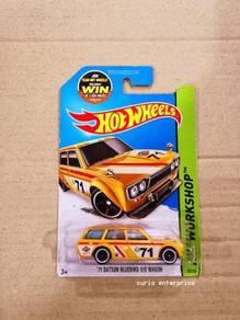 Hot Wheels BLUEBIRD 510 WAGON Yellow Soft Grills