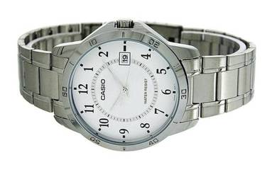 Casio Men Stainless Steel Date Watch MTP-V004D-7BU