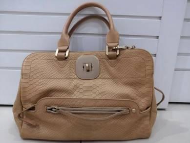 Authentic Longchamp Leather Top Handle Handbag
