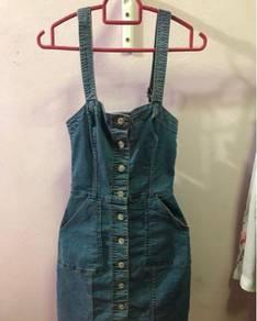 H&M; Denim Buttoned Dress