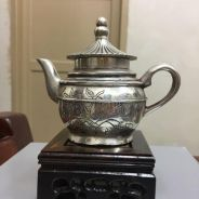 Silver Plated teapot (boy send blessing design)