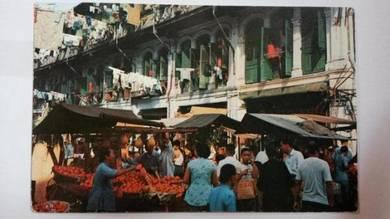 Antik Postcard China Town Scene 1950s PC 408