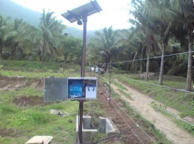 10KM pagar elektrik - 50W solar panel