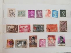 MALAYA & CORONATION 2nd June 1953 old stamps