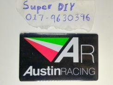 Austin Racing motor gp exhaust aluminium sticker