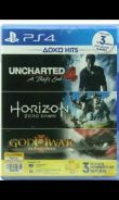 CD PS4 uncharted 4 &Horizon; zero down