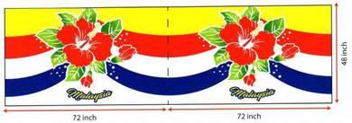 Kain bendera Malaysia-Bunga Raya (MSIA-2266)