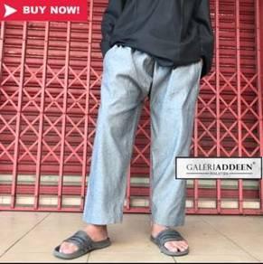 Drts380 seluar jubah (grey denim)