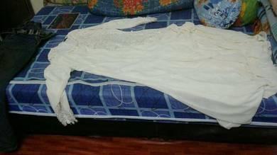Dress putih krim