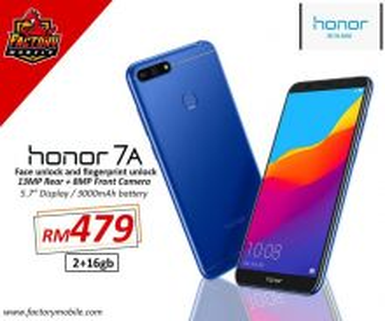 New Honor 7A 2GB Ram 16GB Rom M'sia Set