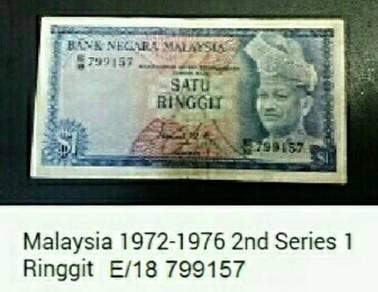 Duit kertas Malaysia 1 Ringgit 1972~1976.