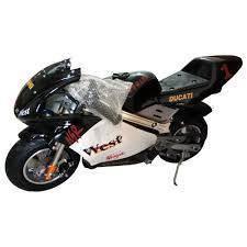 Kids 49cc spoprtpocket bike black