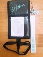 SHINee Ticket Holder and Taemin Name Tag