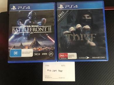 Star Wars Battle Front / Thief PS4 sale