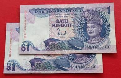$1 Jaafar Hussein HE1050748-49 (2 pcs)