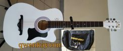 Acoustic Guitar 38Inch A&K #010 White