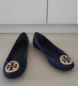 Tory Burch shoes kasut kulit shoe leather & Jeans
