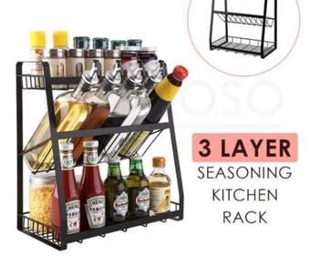 3 Layer Seasoning Rack Kitchen