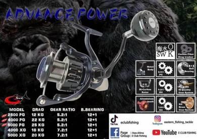 G-tech advance power stainless reel 2500pg/5000pg