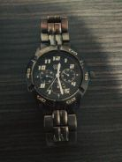 GUESS chronography watch . Black