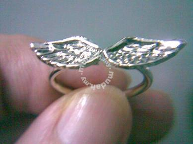 ABRSM-W002 Lovely Little Angel Wings Silver Ring