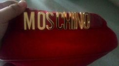 Moschino authentic waist bag unisex in red