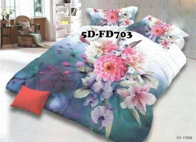 5D-703 Cadar + Comforter Tebal 7Pcs