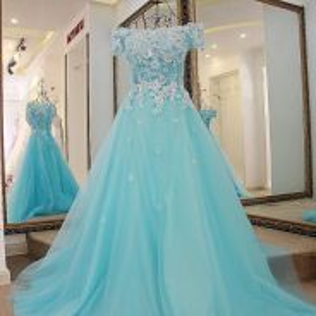 Blue wedding bridal dress gown dinner prom RB0008