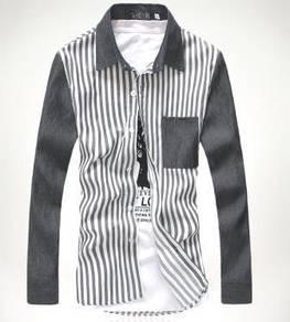 524 Kemeja Lengan Panjang Kelabu Long-Sleeve Shirt