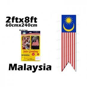 60x240cm nylon malaysia flag
