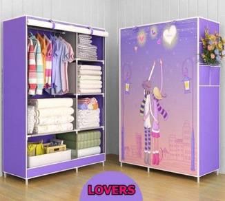 Cartoon Canvas Wardrobe (purple1) FREE POS promo