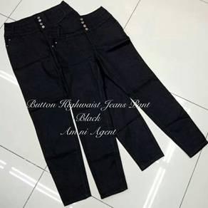 Highwaist button Jeans Pant