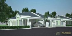 New single storey Semi D at Crystal Bay