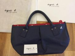 Authentic Agnes B Navy Blue Voyage Bag Japan