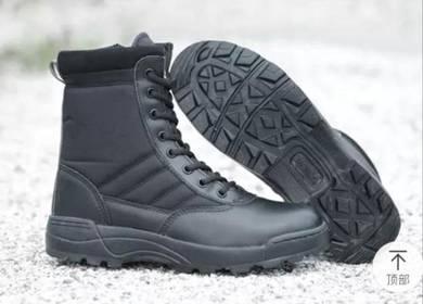 Kasut Boots Army black