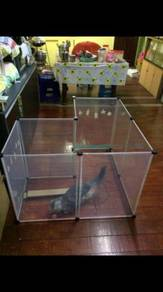 Transparent pet fence / pet playpen 07