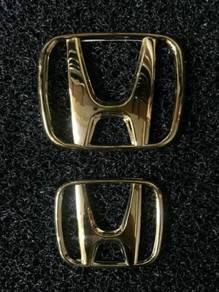 Honda stream RSZ oem gold emblem logo front & rear