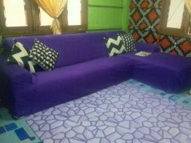 Sofa L free 4 bantal