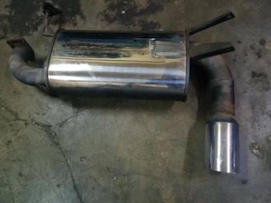 Mufler Ralliart cu2w airtrek turbo 4g63 exhaust
