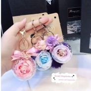 Small keychain preserved flower