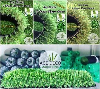 TERBAIK SERAT C Artificial Grass Rumput Tiruan 11