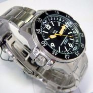 Seiko Automatic Black Stainless-Steel Self Wind Fa
