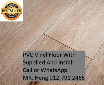 NEW Made Vinyl Floor with Install vt76tgy8