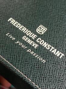 (B382) Frederique Constant Watch Box